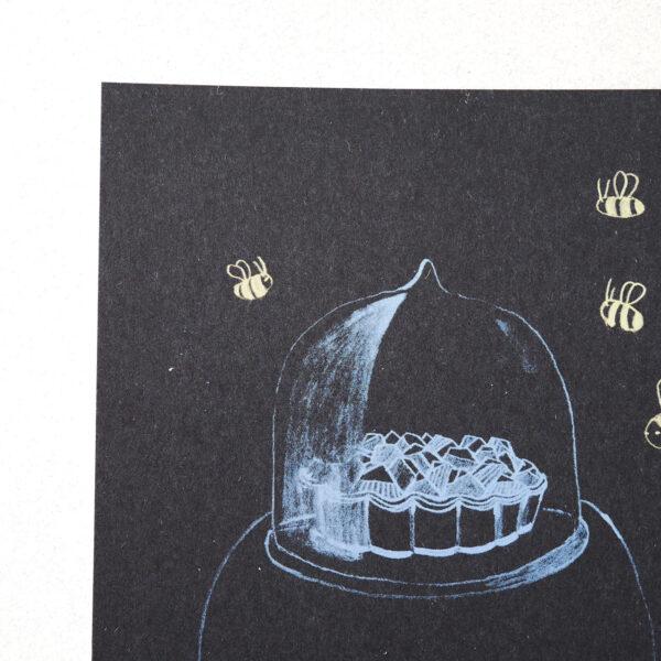 Postkarte Nusskuchen von Franziska Uhlig