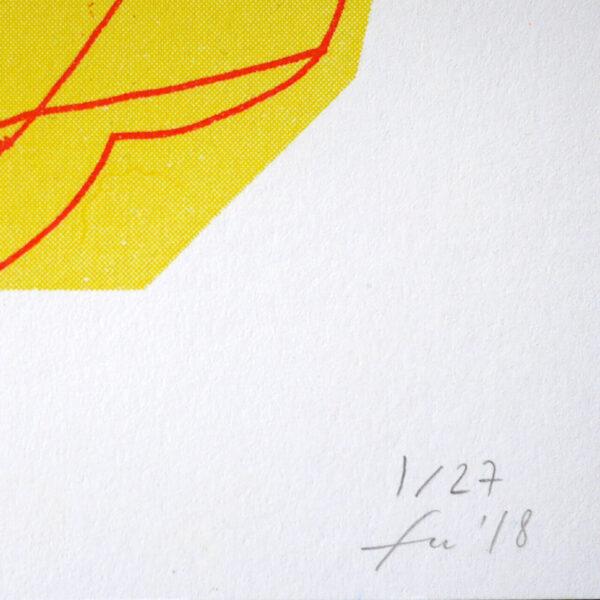 Vierfarbige Risografie BOW von Franziska Uhlig
