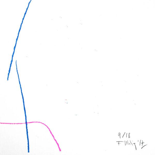 Dreifarbige Risografie PORTRAIT von Franziska Uhlig