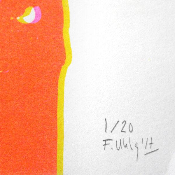 Dreifarbige Risografie SHADOW ORANGE von Franziska Uhlig