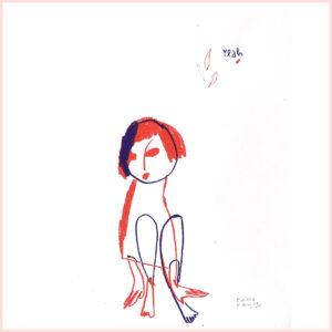 Zweifarbige Risografie YEAH von Franziska Uhlig