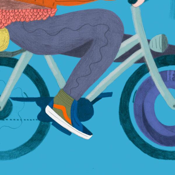 FineArt Print Fahrrad von Franziska Uhlig