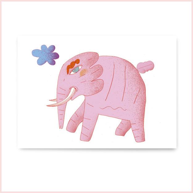 """Postkarte """"Elefant"""""""