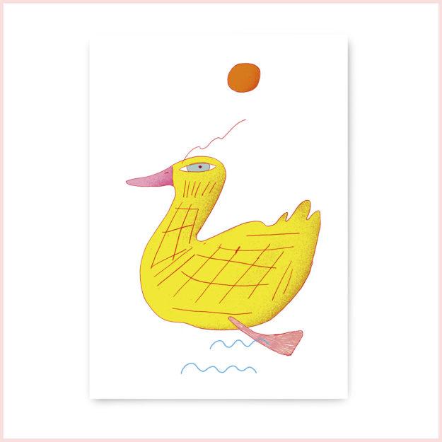 "Postkarte ""Ente"""