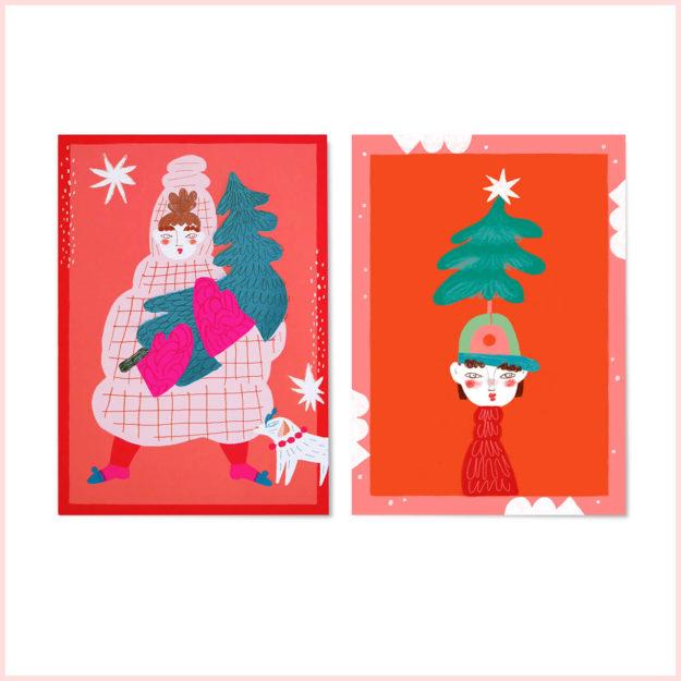 """Postkarten-Set """"Tannen"""""""