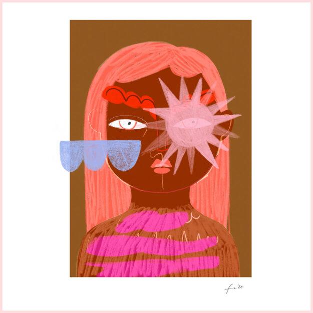 """FineArt Print """"Wolke & Sonne"""""""